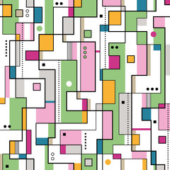 green orange and pink abstract pattern