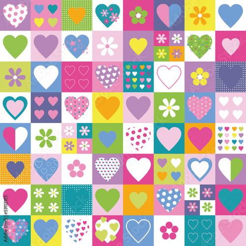 piekny-wzor-kolekcji-serca-i-kwiatow