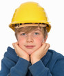 boy with hardhat