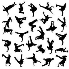 Break Dance silhouettes