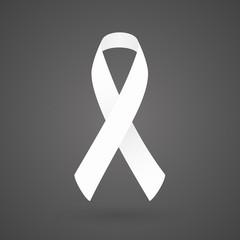 White awareness ribbon