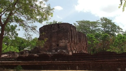 Ruins of the Royal Palace. Polonnaruwa. Sri Lanka.