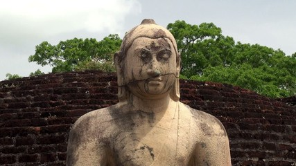 One of the four Buddha statues at Polonnaruwa Vatadage