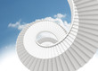 Spiral staircase in the sky