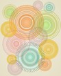 Abstract background with colorful blend jagged circles