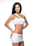 Beautiful woman with sporty slim body