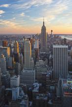 Fototapete - New York City during sunset
