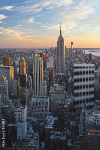 New York City during sunset