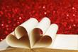 Heart inside a book