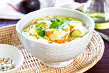 Vegetables soup with pasta