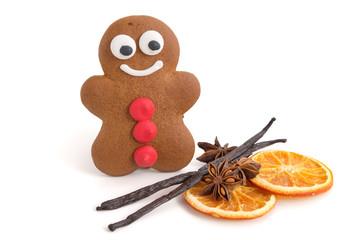 Lebkuchenmann und weihnachtliche Gewürze