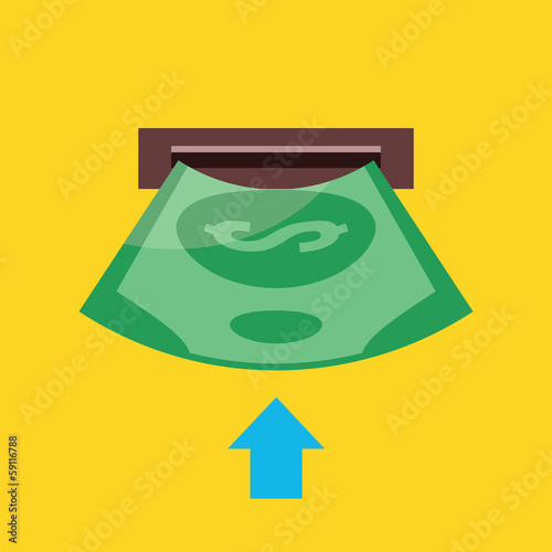Vector Insert Money Icon