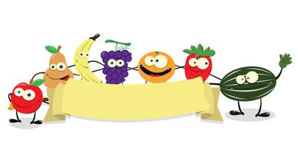 Funny Fruit Banner