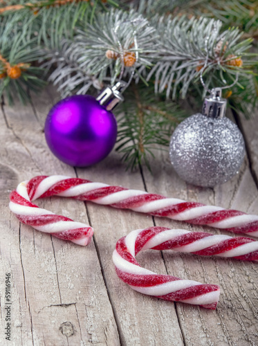 Christmas lollypop lollipop with festive decoration