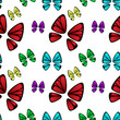 butterfly coloful pattern