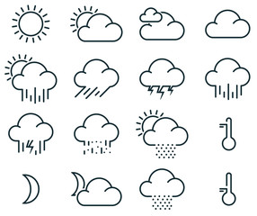 Minimalistic weather icons