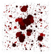 vector red brush splatters