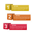 vector color paper option labels