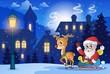 Winter scene with Christmas theme 6