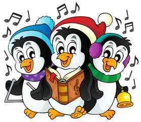 Christmas penguins theme image 1