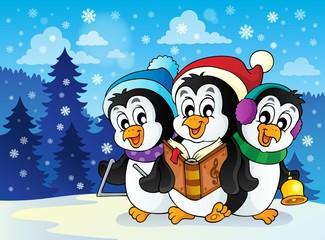 Christmas penguins theme image 2