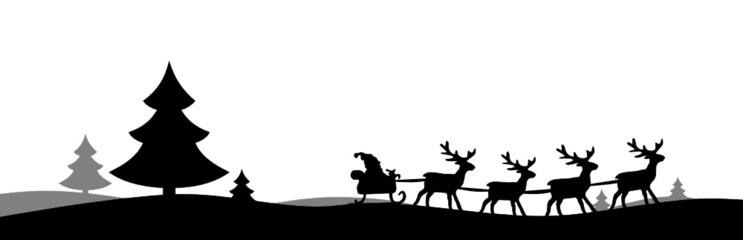 ... . Shape, Kontur, Schattenriss Vorlage. Weihnachtsschlitten. XMas