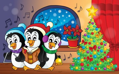 Christmas penguins theme image 3