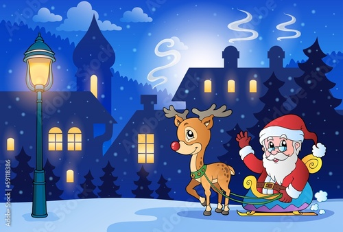 Winter scene with Christmas theme 6
