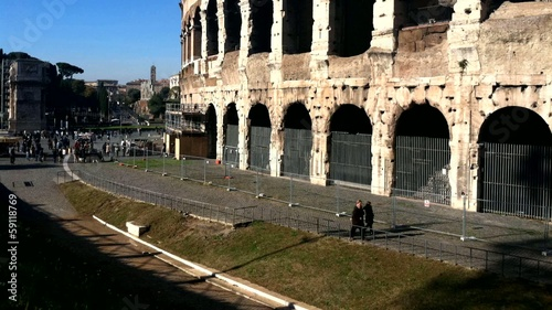 Time lapse of Colosseum, Rome, Italy