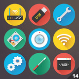 Vector Icons for Web and Mobile Applications. Set 14.