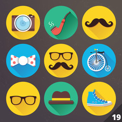 Vector Icons for Web and Mobile Applications. Set 19.