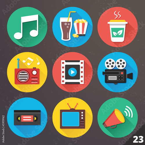 Vector Icons for Web and Mobile Applications. Set 23.