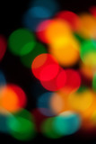 colourful bokeh blur
