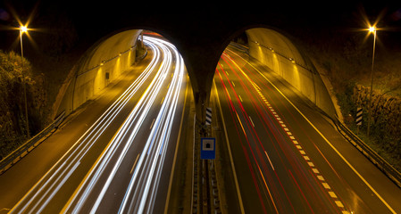 Highway tunnel in between Donostia and Hernani.