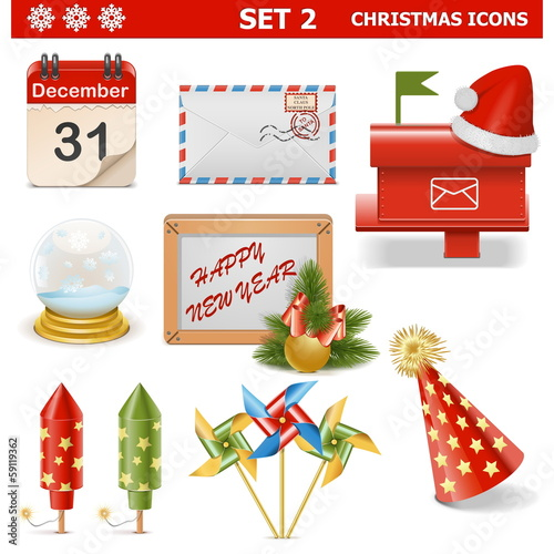 Vector Christmas Icons Set 2