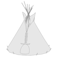 cartoon image of teepee tent