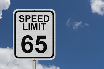 Speed Limit 65 Sign