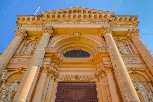 Low angle shot of the Xewkija church in the island of Gozo