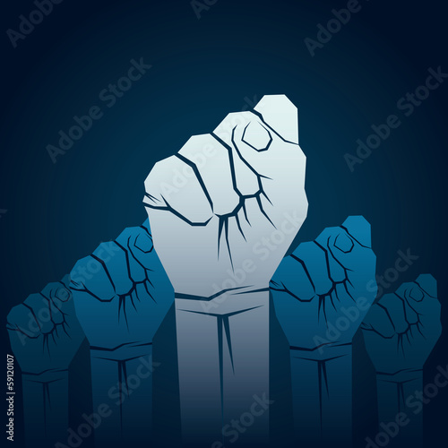 power or unity concept hand background vector