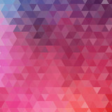 Abstract color triangle background