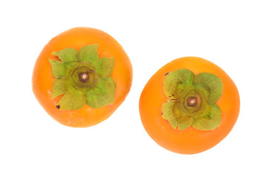 Two Persimmons Isolated On White Background