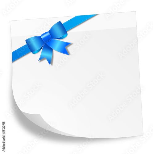 Schleife blau Textfeld