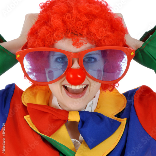 Clown mit roter Nase
