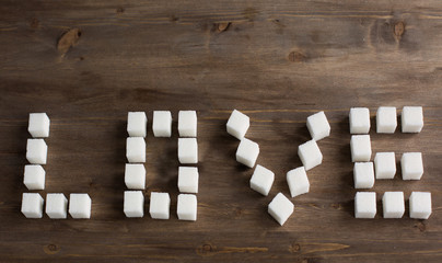 The word love sugar