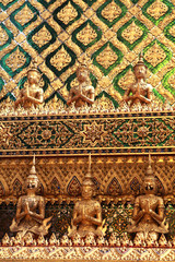 golden temple gable in Thailand