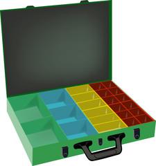 valigia da utensili e minuterie