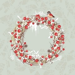 Christmas Berries Wreath