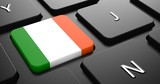 Ireland - Flag on Button of Black Keyboard.