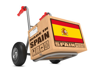 Made in Spain - Cardboard Box on Hand Truck.