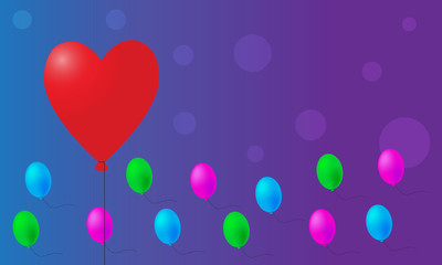 Valentine balloons background